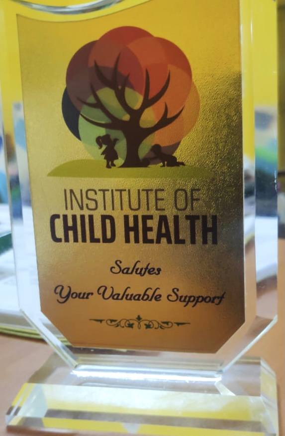 Ann Cares Foundation receives Award from the Insititute of Child Health