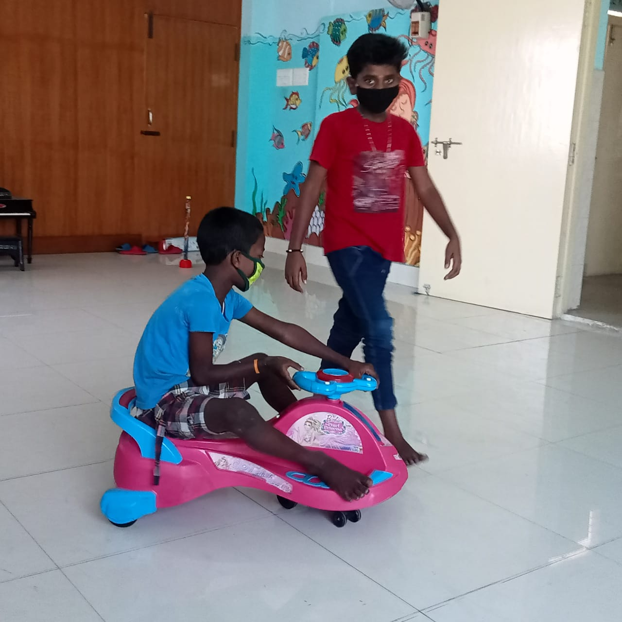 Managing the crèche at Egmore Child Hospital